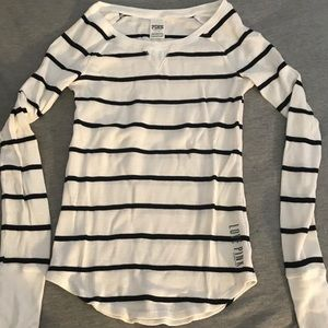 Victoria's Secret PINK striped long sleeve